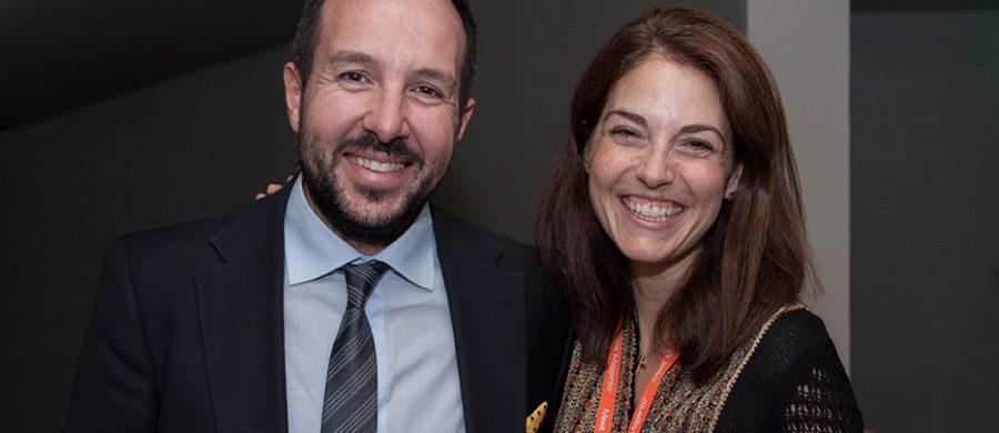 Σταύρος Δρακουλαράκος CEO 24media, Κωνσταντίνα Κωστοπούλου Meet Magento GR 2016